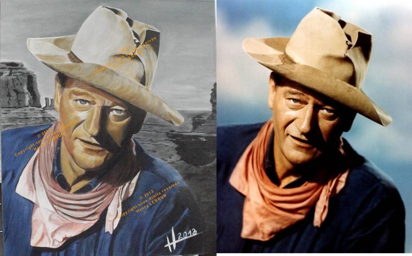 John Wayne by lhommeloiret
